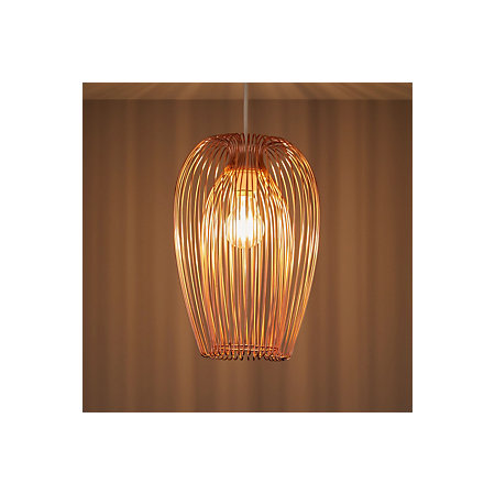 Jonas copper wire light shade d220mm departments diy at bq 000 000 greentooth Image collections