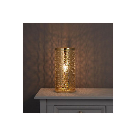Myla Metalwork Gold Effect Table Lamp Departments Diy
