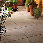 Moorland cream Derbyshire Single paving slab (L)450mm (W)450mm