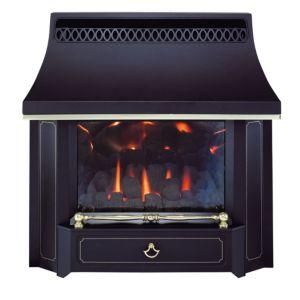 Valor Black Beauty Black Slide Control Outset Gas Fire