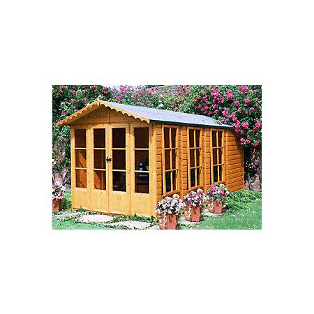 13x7 kensington shiplap timber summerhouse departments. Black Bedroom Furniture Sets. Home Design Ideas