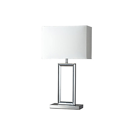 Mooki rectangular chrome effect table lamp departments diy at bq 000 000 aloadofball Images