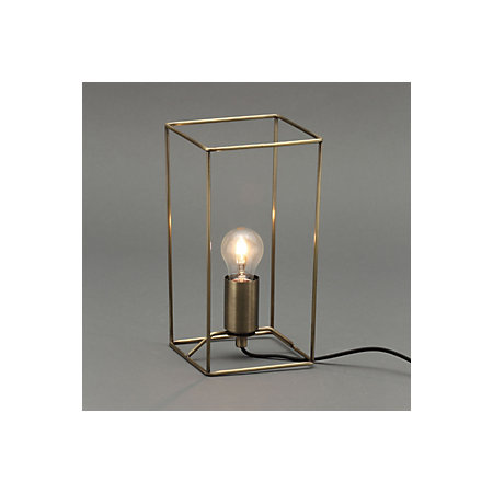 Forbes Swirl Gold Antique Brass Table Lamp Departments Diy At Bandq