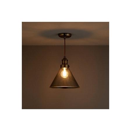 Dafyd smoked glass pendant ceiling light departments diy at bq 000 000 aloadofball Images