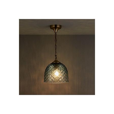 Veac teal pendant ceiling light departments diy at bq 000 000 aloadofball Choice Image