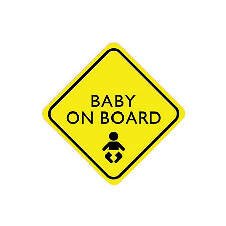 PVC Self Adhesive Baby On Board Window Sign (H)150mm (W)150mm ...