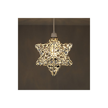 Chrome effect mirrored star ceiling light departments diy at bq 000 000 aloadofball Choice Image