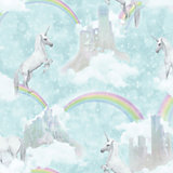 Holden Decor Teal Unicorn Glitter Effect Wallpaper