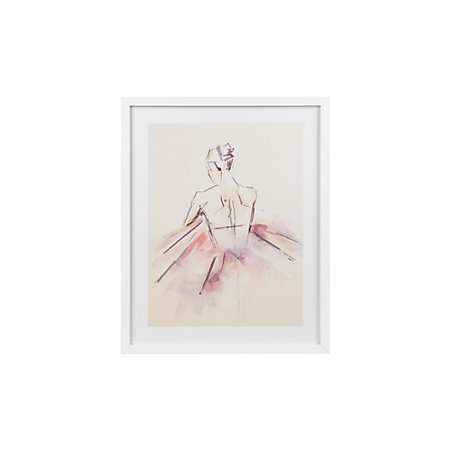 Ballerina White Framed art (W)430mm (H)530mm | Departments | DIY at B&Q