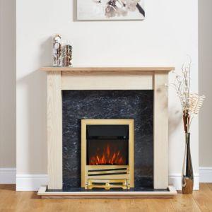 Horizon Brass Electric Fire Suite