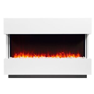 Panoramic White LED Remote Control Electric Fire Suite