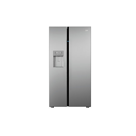 beko asgn542s american style silver freestanding fridge freezer departments diy at b q. Black Bedroom Furniture Sets. Home Design Ideas