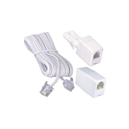 philex white plastic telephone extension kit 10m. Black Bedroom Furniture Sets. Home Design Ideas