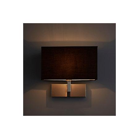Wollstone fabric shade black wall light departments diy at bq wollstone fabric shade black wall light mozeypictures Gallery