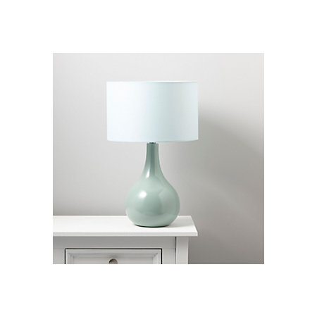 Portia duck egg blue table lamp departments diy at bq duck egg blue table lamp image 3 000 000 000 aloadofball Images