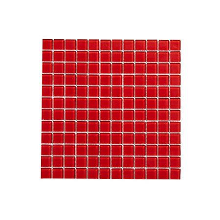 red glass mosaic tile l 300mm w 300mm departments. Black Bedroom Furniture Sets. Home Design Ideas