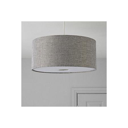 Colours burnett grey drum light shade d400mm departments 000 000 aloadofball Image collections