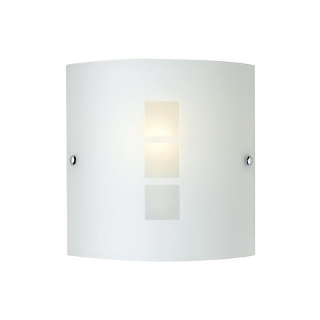 Rauma frosted effect wall light departments diy at bq 000 000 aloadofball Images
