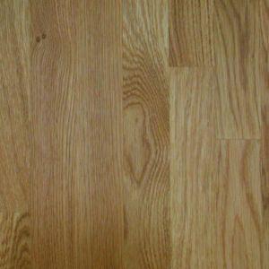 Image of 27mm Square edge Solid oak Worktop (L)3m (D)600mm