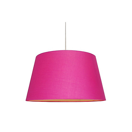 Colours martie bright pink light shade d45cm departments diy 000 000 aloadofball Gallery