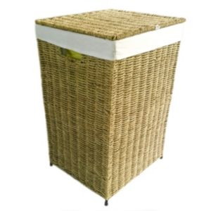 Natural Seagrass Laundry Bin