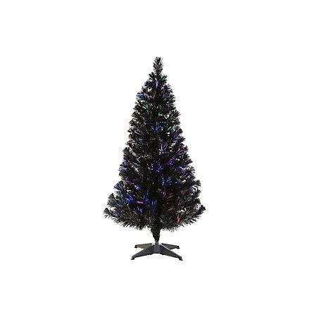 4 Ft Christmas Tree.4 Ft Black Fibre Optic Black Pre Lit Christmas Tree Departments Diy At B Q