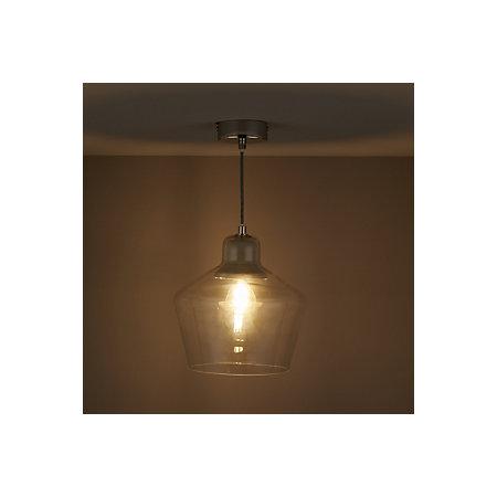 jidda clear pendant ceiling light large departments diy  bq