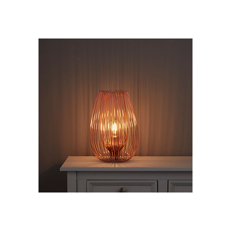 Jonas brown copper wire table lamp departments diy at bq 000 000 greentooth Choice Image