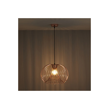 Jonas wire copper pendant ceiling light departments diy at bq 000 000 aloadofball