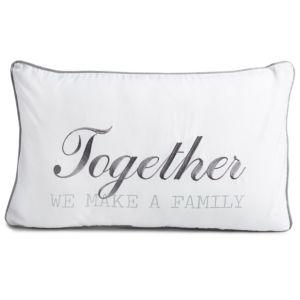 Image of Adoris 'Together we make a family' White & grey Cushion