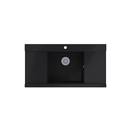 Cooke And Lewis Kitchen Sinks Cooke lewis 1 bowl black metallic granite sink with two drainers 000 000 workwithnaturefo