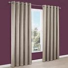 Endora Gold Plain Satin Eyelet Lined Curtains (W)167 cm (L)228 cm