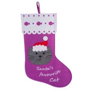 Santas Favourite Cat Stocking