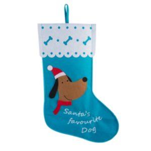 Santas Favourite Dog Stocking