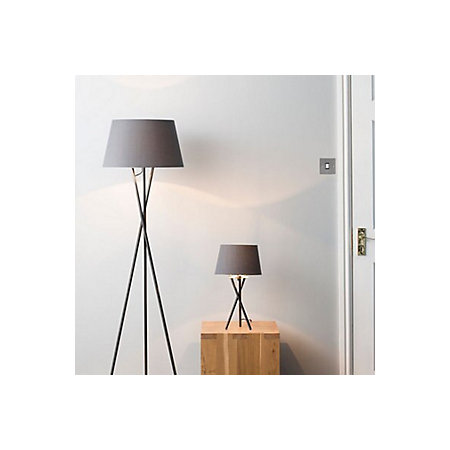 Jake modern black anthracite chrome effect table floor lamp set 000 000 aloadofball Choice Image