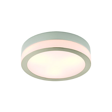 Laguna Brushed chrome effect 3 Lamp Bathroom ceiling light | Departments | DIY at B&Q