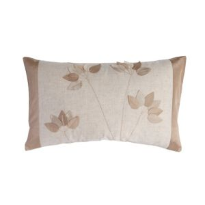 Chartwell Leaf Floral Natural Taupe Cushion