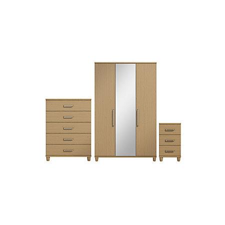 Pandora Pre Assembled 3 Piece Bedroom Furniture Set Departments Tradepoint