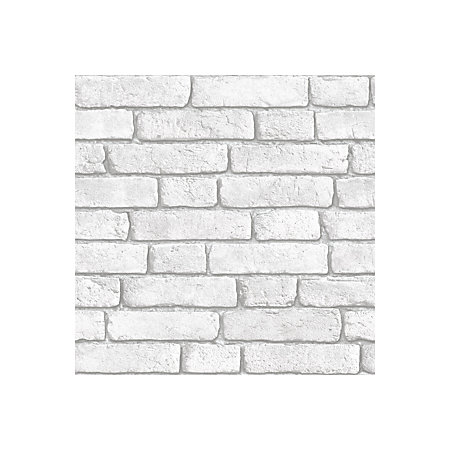 Muriva White Brick Wall Wallpaper Departments Diy At B Amp Q