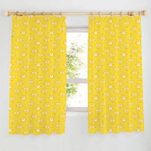 Minion Made Yellow Pencil Pleat Childrens Curtains (W)167cm (L)137cm