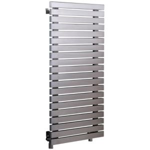 Image of Accuro Korle Dune Vertical Radiator Stainless steel (H)990 mm (W)500 mm