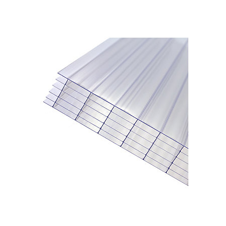 Axiome Clear Polycarbonate Multiwall Roofing Sheet L 2m W 1000mm T 32mm Departments Diy At B Q
