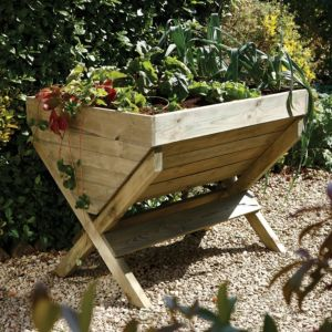 Image of Blooma Wooden Natural timber Garden trough (H)810mm