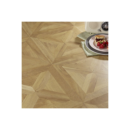 Staccato Oak Parquet Effect Laminate Flooring 186 M Pack