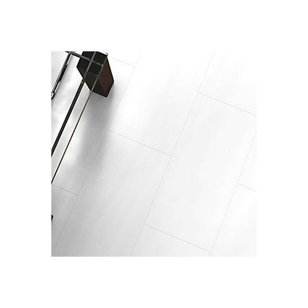 Falsetto White Tile Effect Laminate Flooring 2 M Pack Departments