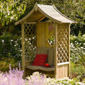 Image of Blooma Softwood Arbour with Assembly Service