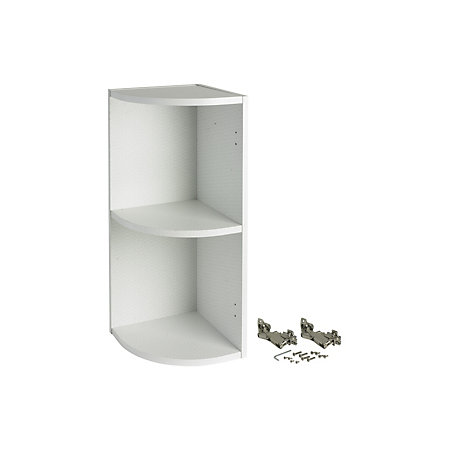 IT Kitchens White Curved end Wall cabinet (W)300mm ...