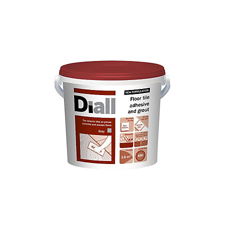 Diall Ready To Use Floor Tile Adhesive Grout Grey 146kg