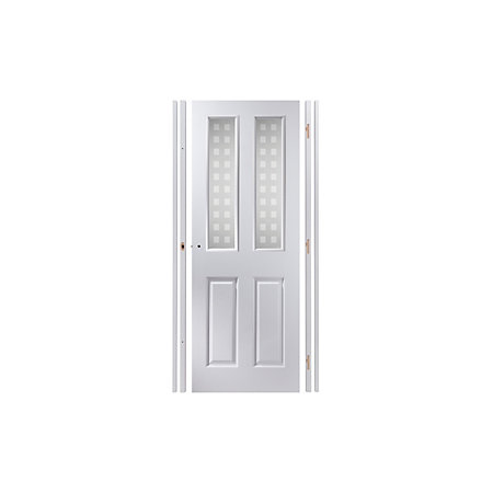 4 Panel Pre Painted White Glazed Internal Door Kit Rh Departments Tradepoint
