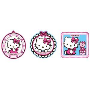 Decofun Hello Kitty Multicolour Self Adhesive Wall Sticker (L)300mm (W)300mm